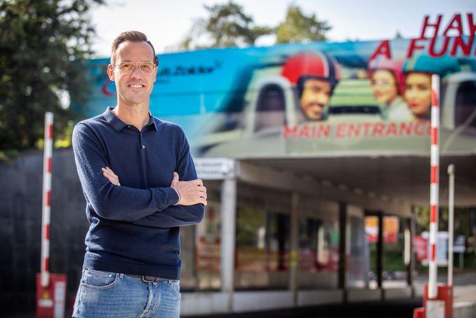 Rob Beenders aan het circuit in Zolder waar hij in 2002 het WK wielrennen organiseerde.