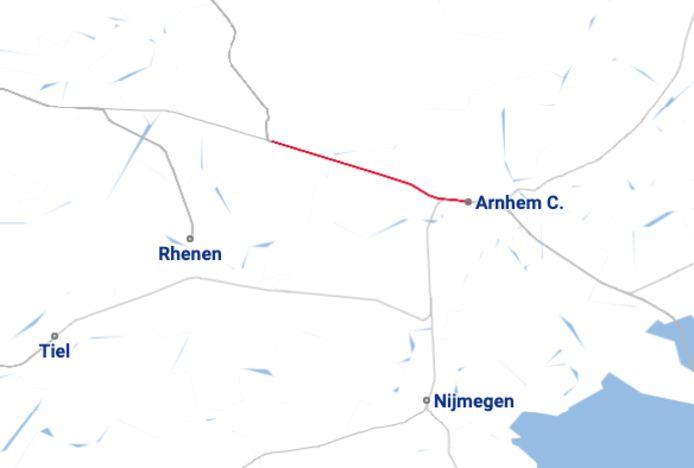 Tussen Ede-Wageningen en Arnhem Centraal rijden er geen treinen door een aanrijding.