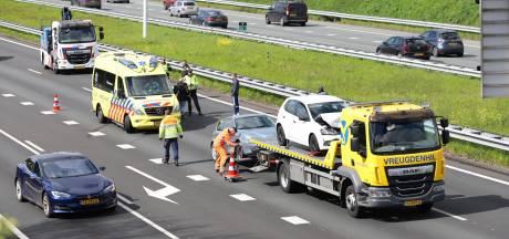 Aanrijding op A4 bij Den Hoorn zorgt voor verkeershinder