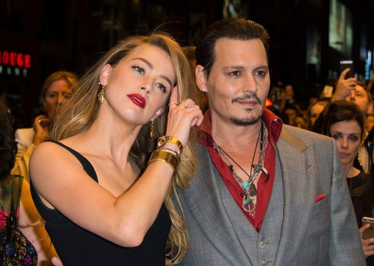 Amber Heard en Johnny Depp in betere tijden Beeld EPA