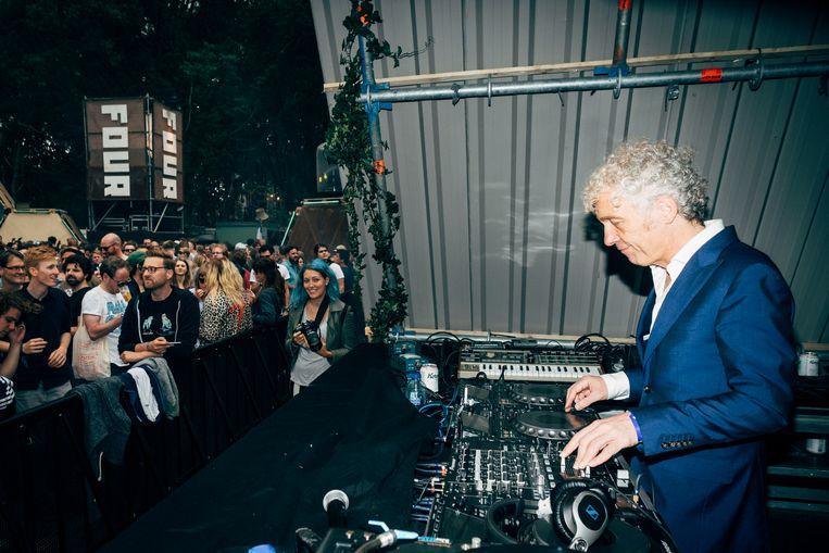 DJ Spinvis op Best Kept Secret. Beeld Joris Casaer