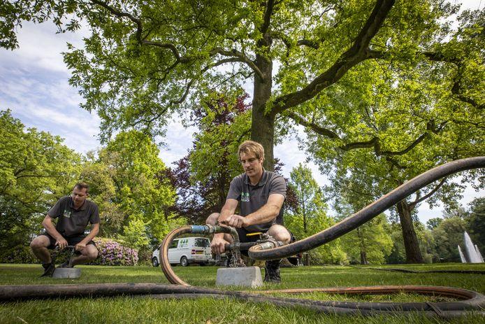 Bomen zijn volgens de gemeente Rijssen-Holten belangrijk. Daarom kregen recent nog 12 markante exemplaren in het Rijssense Volkspark een vitaliteitsinjectie met zuurstof en mest.