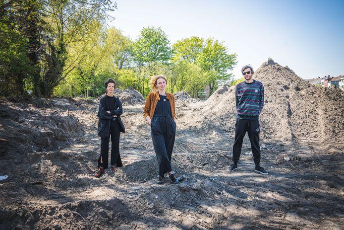 Vlnr.: Initiatiefnemers Alexandra Omey, Rani Smismans en Ilsan De Cuyper kunnen niet wachten om te starten met hun project.