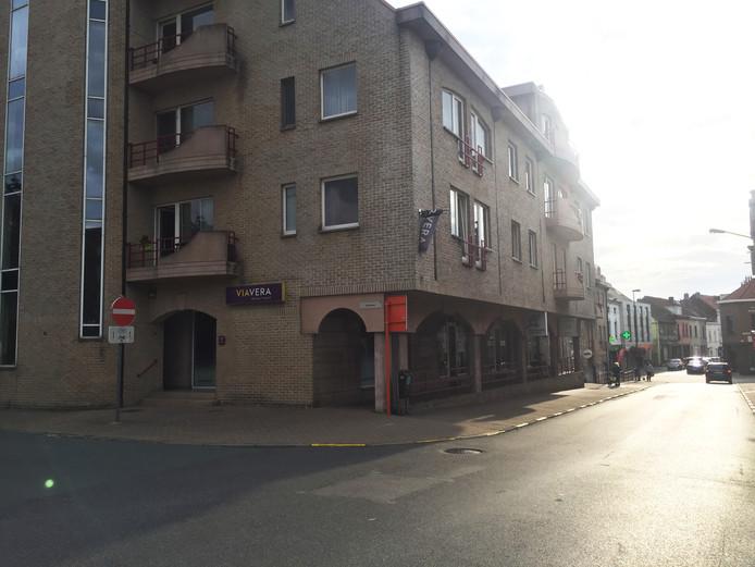 L'endroit où la victime a reçu des coups de couteau, Kerkplein à Zaventem