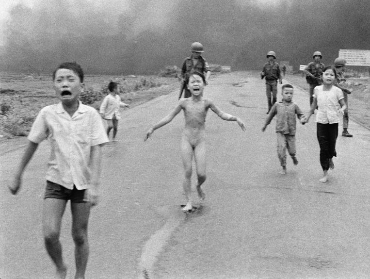 Het Napalm-meisje (Nick Ut, Vietnam, 1972). Beeld AP
