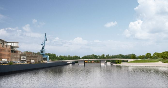 De toekomstige brug moet de Muidelaan over het Handelsdok met de Afrikalaan verbinden. Hierdoor zal de Gentse stadsring via de Afrikalaan naar de Dampoort lopen.