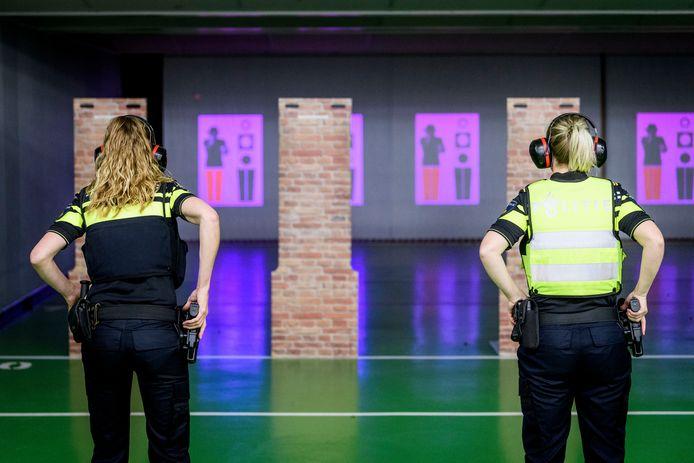 Een schietbaan van de politie.
