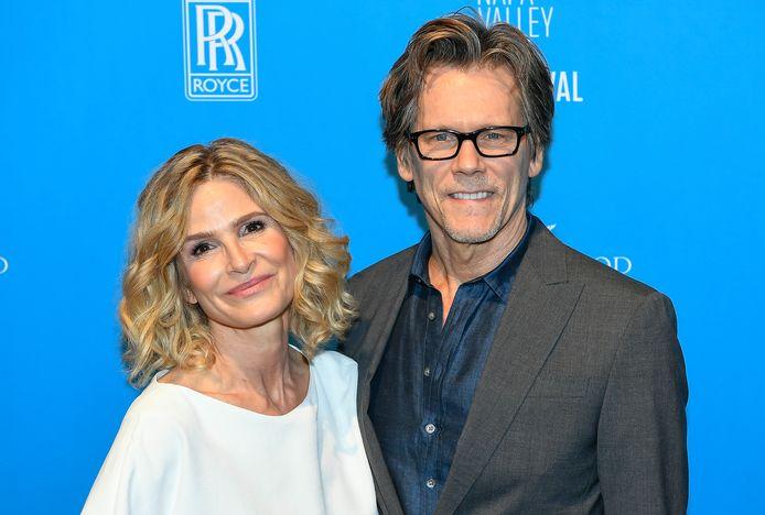 Kyra Sedgwick en haar echtgenoot Kevin Bacon