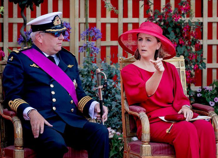 Le couple princier au défilé du 21 juillet, en 2019.