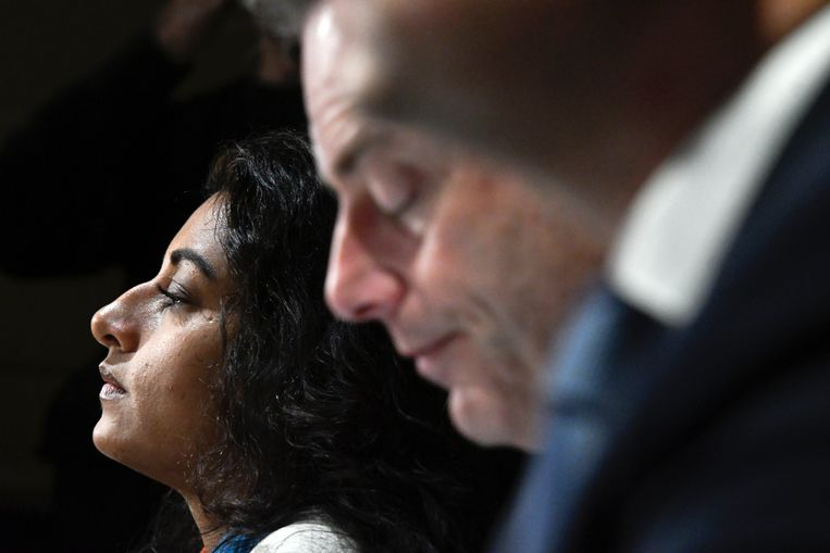 Beels herhaalde dat ze aanspraak wil maken op de burgemeesterssjerp indien Bart De Wever opstapt als Antwerps burgemeester om Vlaams minister-president te worden. Beeld Photo News
