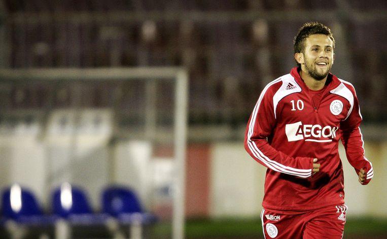 Miralem Sulejmani, terug in het stadion van Partizan Belgrado waar hij leerde voetballen. Foto ANP/Koen van Weel Beeld