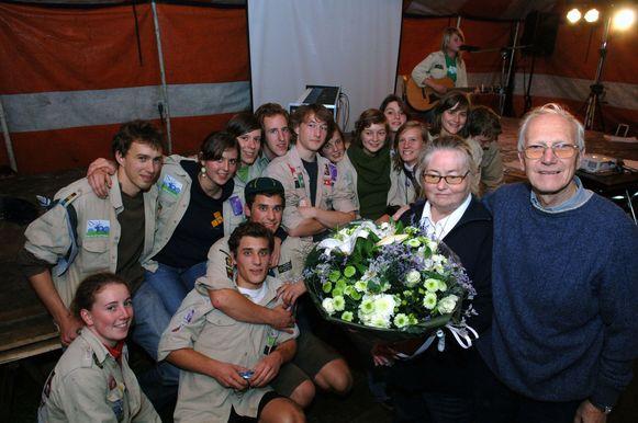 In oktober 2007 werden Gaby en Jef welverdiend in de bloemetjes gezet door de scouts van Diependaal.