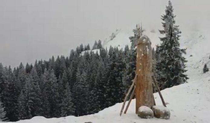 Het originele exemplaar verdween afgelopen weekend spoorloos van de 1738 meter hoge Grünten bij Kranzegg in het zuiden van Duitsland.