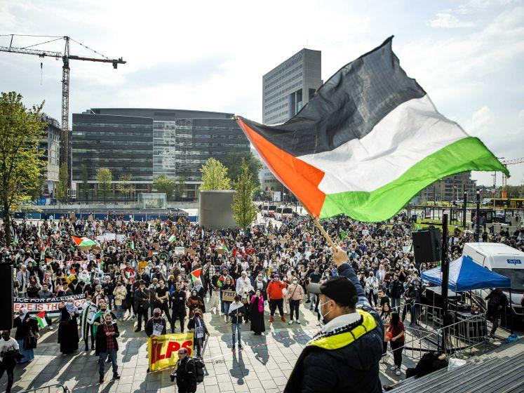 Pro-Palestinademonstratie loopt uit de hand