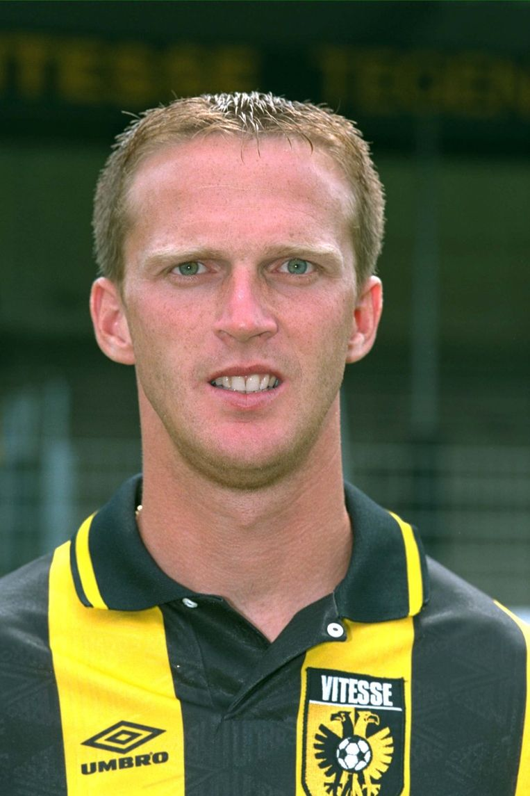 Van den Borm in 1996 als speler van Vitesse. © ANP Beeld