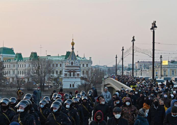 Manifestation pro-Navalny à Omsk (21 avril)