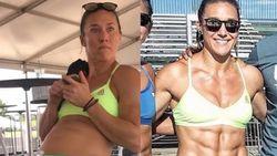 Crossfit-atlete spot op geweldige wijze met vóór- en na-foto's op Instagram