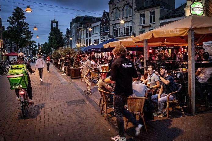 Het uitgaansleven van Nijmegen, afgelopen vrijdagavond.