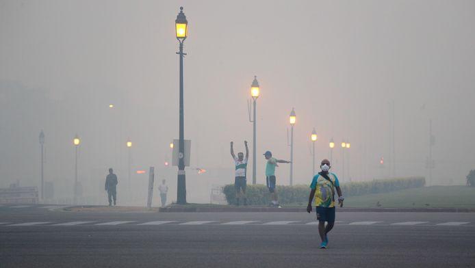 Smog is een dagelijks probleem in New Delhi, India.