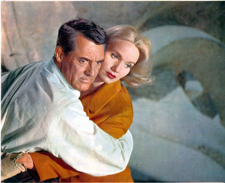 Cary Grant en Eva Marie Saint in North by Northwest, 1959.  Beeld Getty