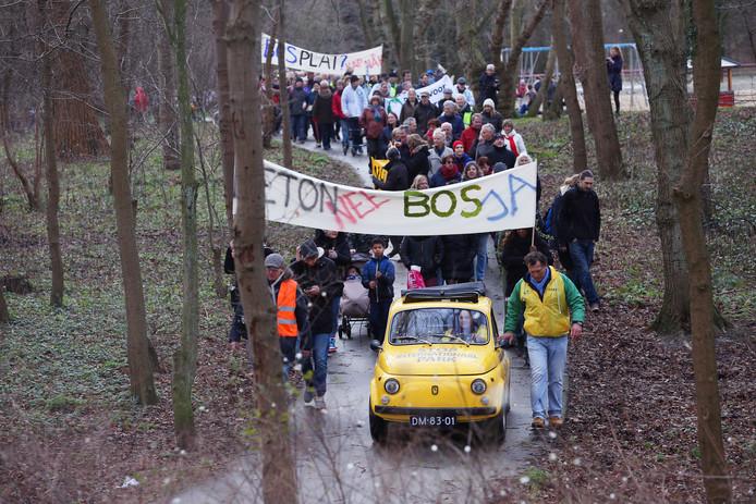 In 2016 was er nog een groot protest tegen een parkplan voor de Scheveningse Bosjes.