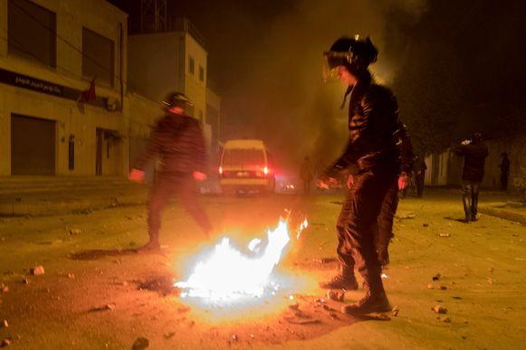 Protesten in de Tunesische stad Terbourba, ten zuiden van de hoofdstad Tunis.