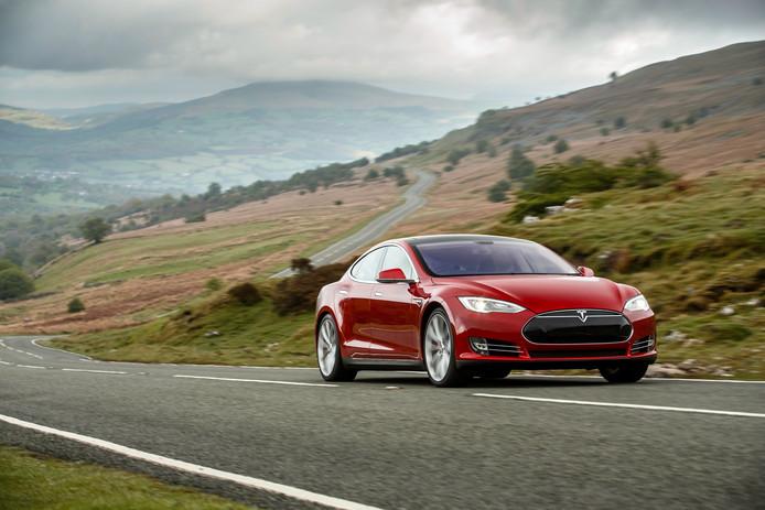 De Tesla Model S met 85 kWh-batterij