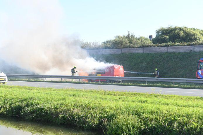 Wippolderlaan busje uitgebrand
