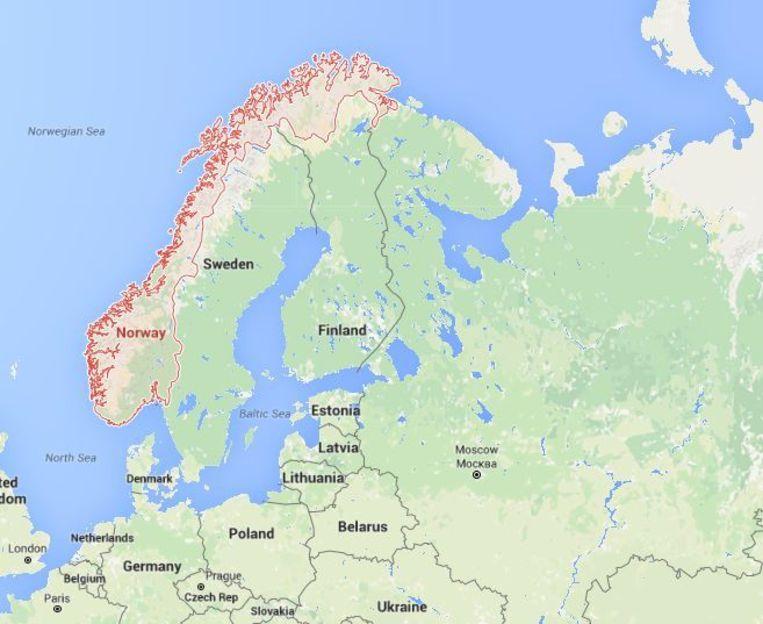 Noorwegen plant ook een grotere troepenmacht in Finnmark, het noordoostelijke deel van het land dat aan Rusland grenst. Beeld Google
