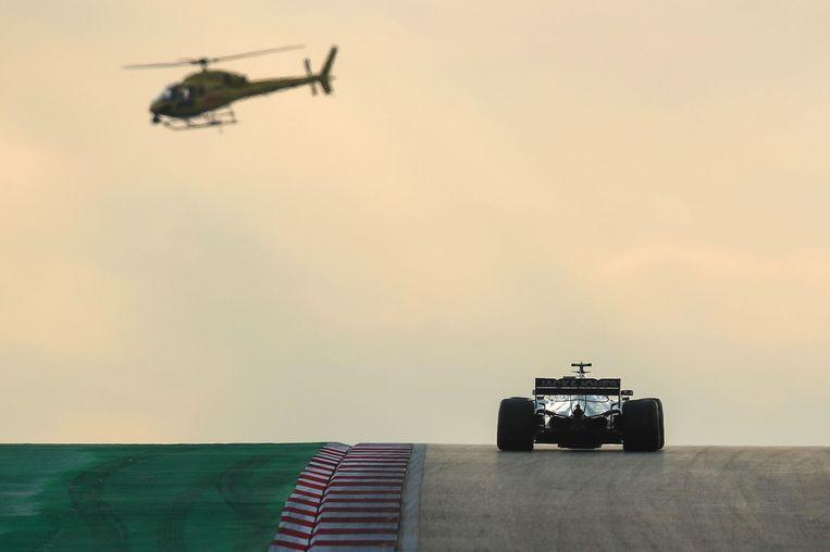 Haas-coureur Kevin Magnussen oefent op Intercity Istanbul Park. Beeld AFP