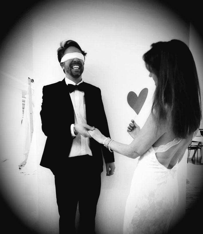 Jef De Smet en Liesbet Van Gastel organiseren hun eigen versie van 'Blind getrouwd'