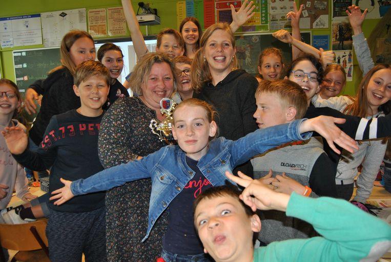 Het vijfde leerjaar van VBS De Sprankel viert feest: ze zijn de Sierlijkste Klas!