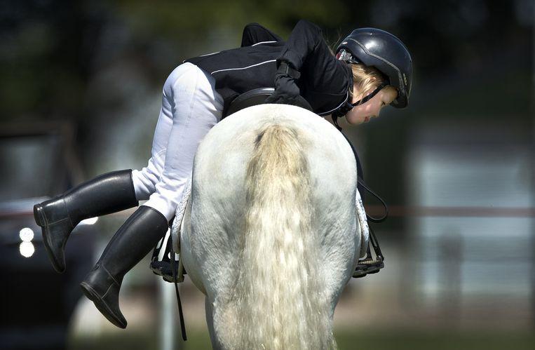 Dressuur Kampioenschappen regio Limburg, pony's, categorie A/B, Reuver. Beeld Klaas Jan van der Weij