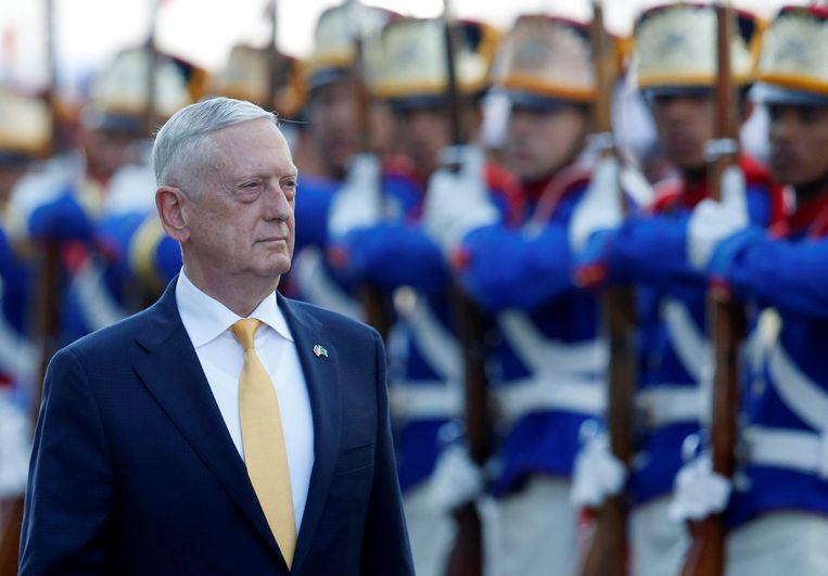VS-defensieminister James Mattis op bezoek in Brazilië.  Beeld REUTERS