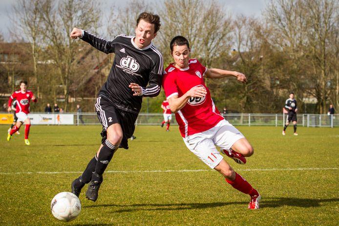 Martijn Jansen (rechts) van Sportlust'46 maakte eerder al bijzondere bekerduels mee. Hij hoopt dat dit seizoen nog eens te beleven.