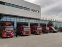 De nieuwe brandweerkazerne van Waalwijk.