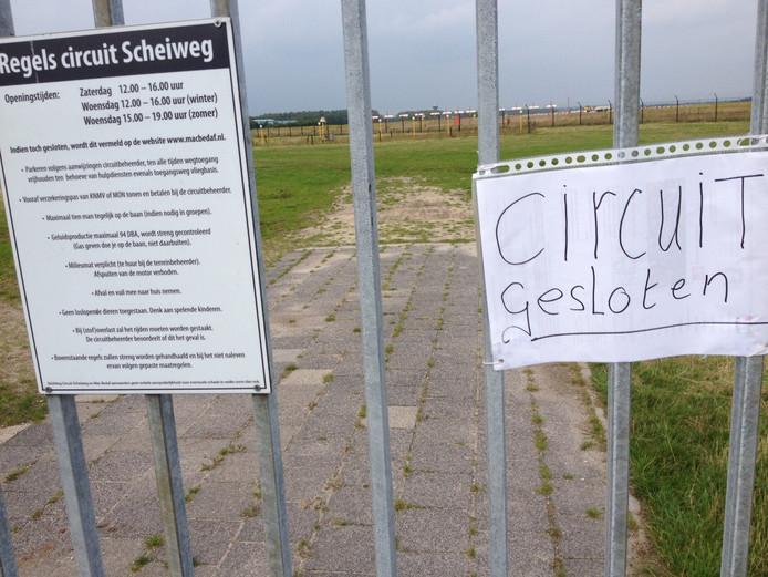 Het circuit aan de Scheiweg blijft gesloten