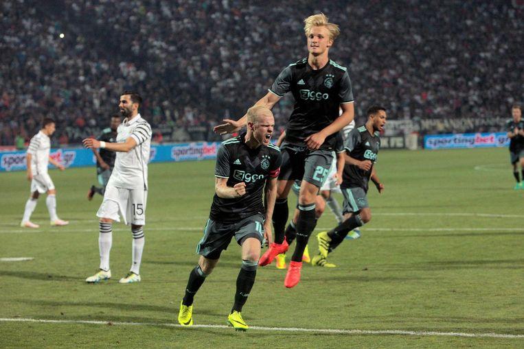 Davy Klaassen heeft gescoord in de uitwedstrijd tegen PAOK Beeld ANP
