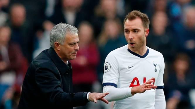 """Ook Mourinho was emotioneel na hartfalen Eriksen: """"Ik heb geweend"""""""