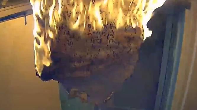 Brandweer waarschuwt met deze beelden: laat kaarsen nooit onbeheerd achter