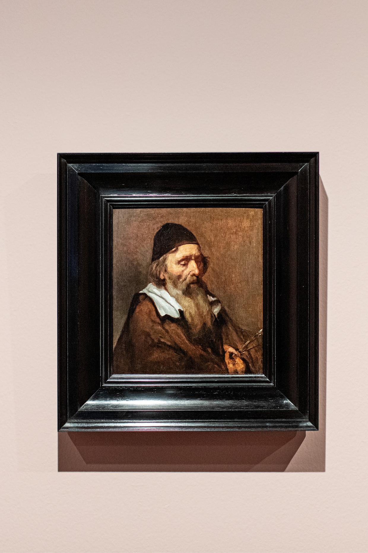 De oude schilder (ca. 1657) van Abraham van Dijck in het Rembrandthuis.