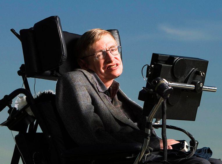 Stephen Hawking in 2005. Beeld Photo News