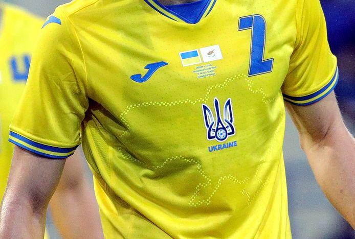 Het gewraakte shirt van Oekraïne.
