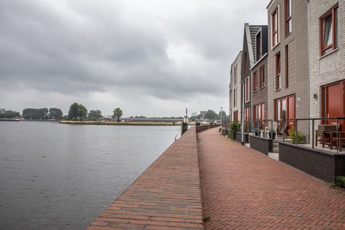 De wijk Frankhuis (hier op een foto in 2017) kijkt rechtstreeks op de Kop van Voorst uit.