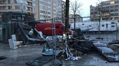 Een maand geleden ontplofte elektriciteitscabine op Flageyplein, puin nog altijd niet opgeruimd