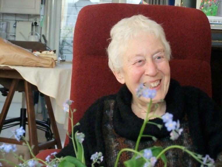 Tijdens de presentatie van haar eerste boekje in 2013. Beeld Hanneke Bakker