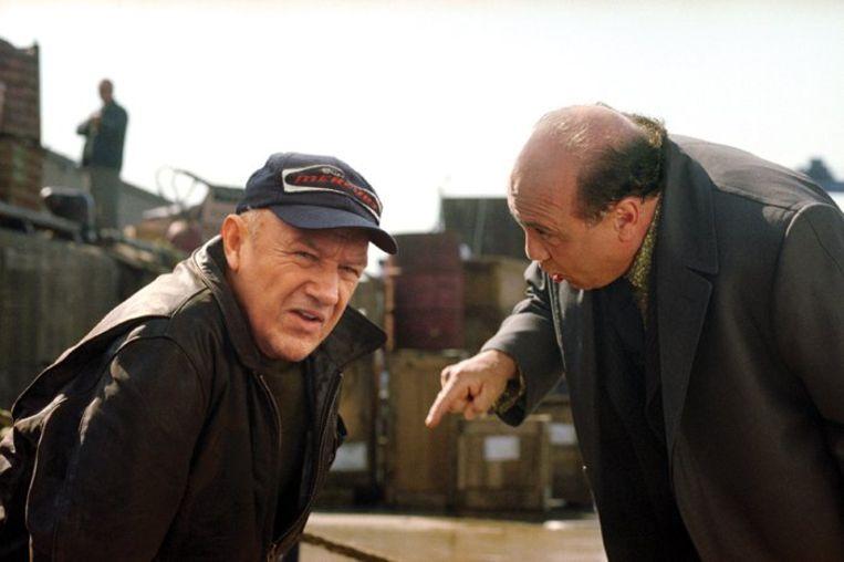 Gene Hackman (links) en Danny DeVito in Heist. Beeld