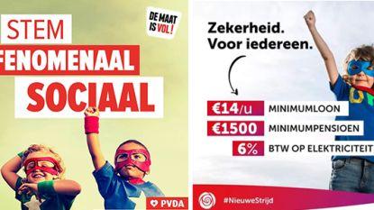 Sp.a en PVDA beschuldigen elkaar van plagiaat met campagnebeeld