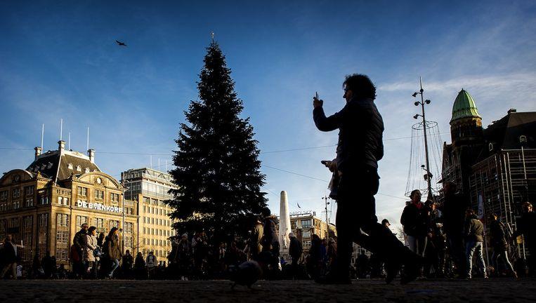 De kerstboom op de Dam. Beeld anp