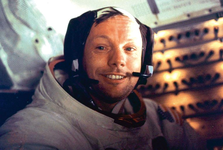 Neil Armstrong in 1969. Beeld afp
